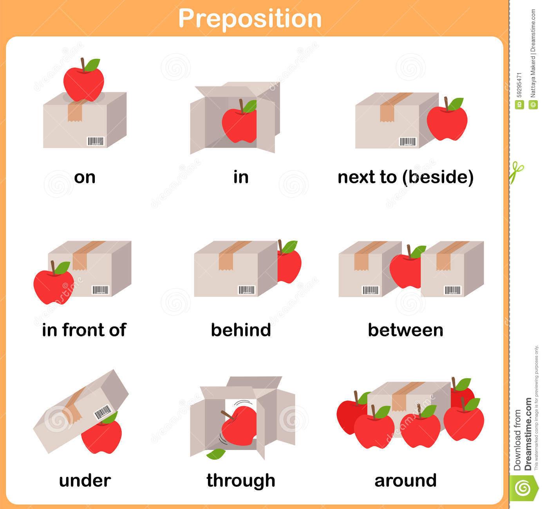 Kindergarten Prepositions Worksheets