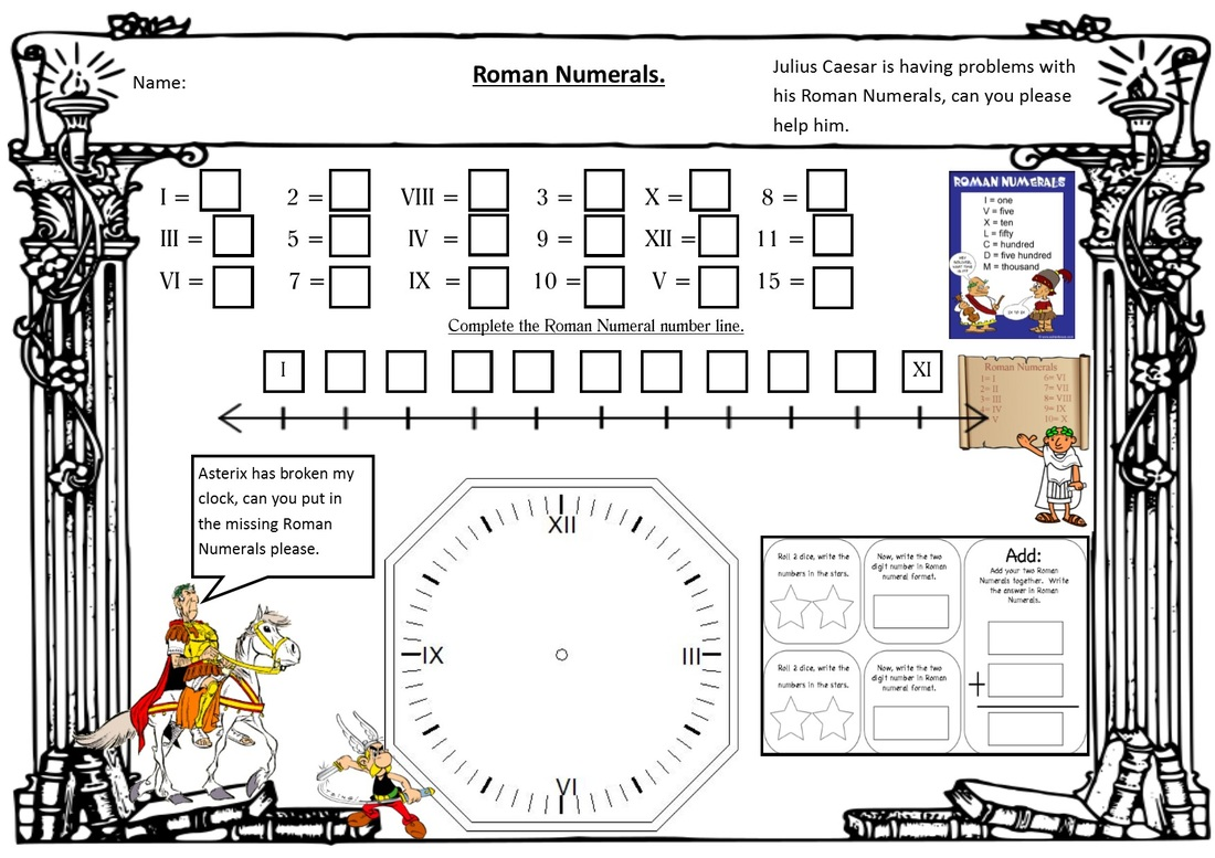 Roman Numeral Shed Worksheets Samples