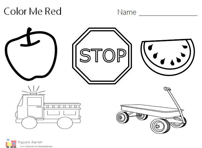 Red Worksheets For Preschool