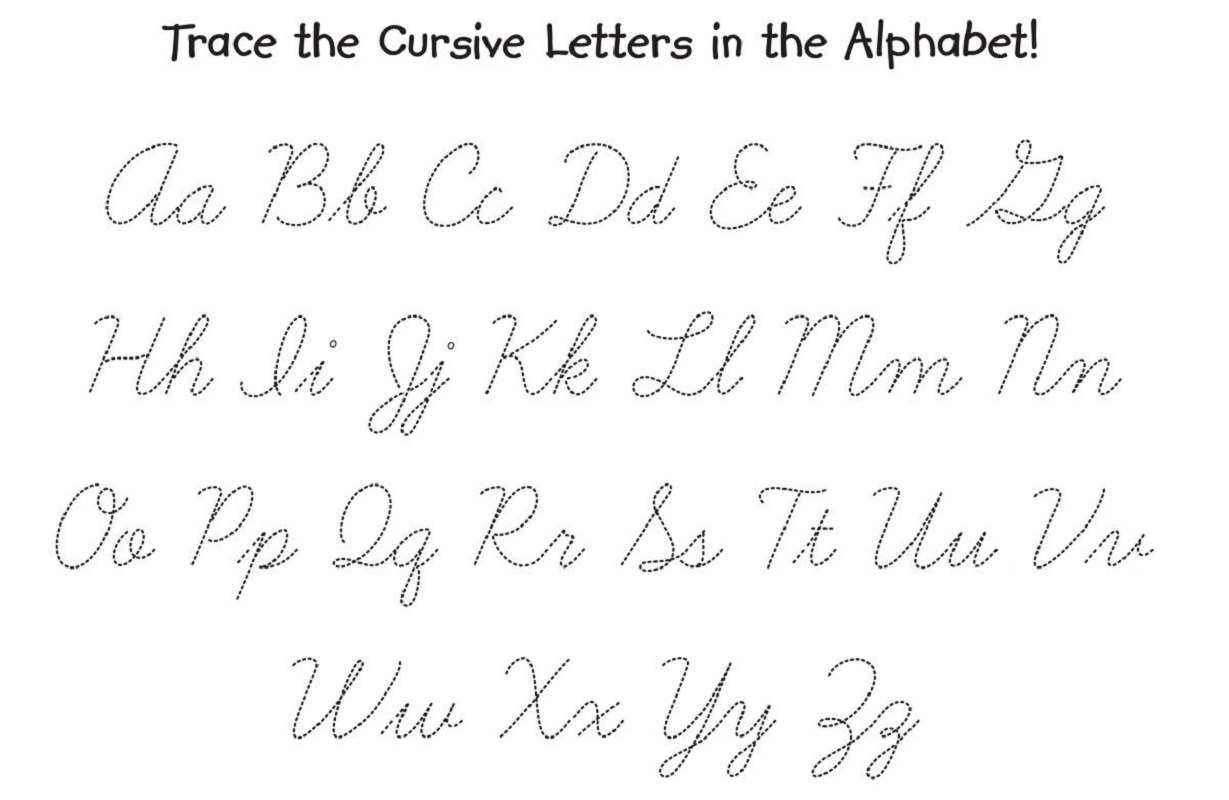 Cursive Alphabet Tracing Worksheets