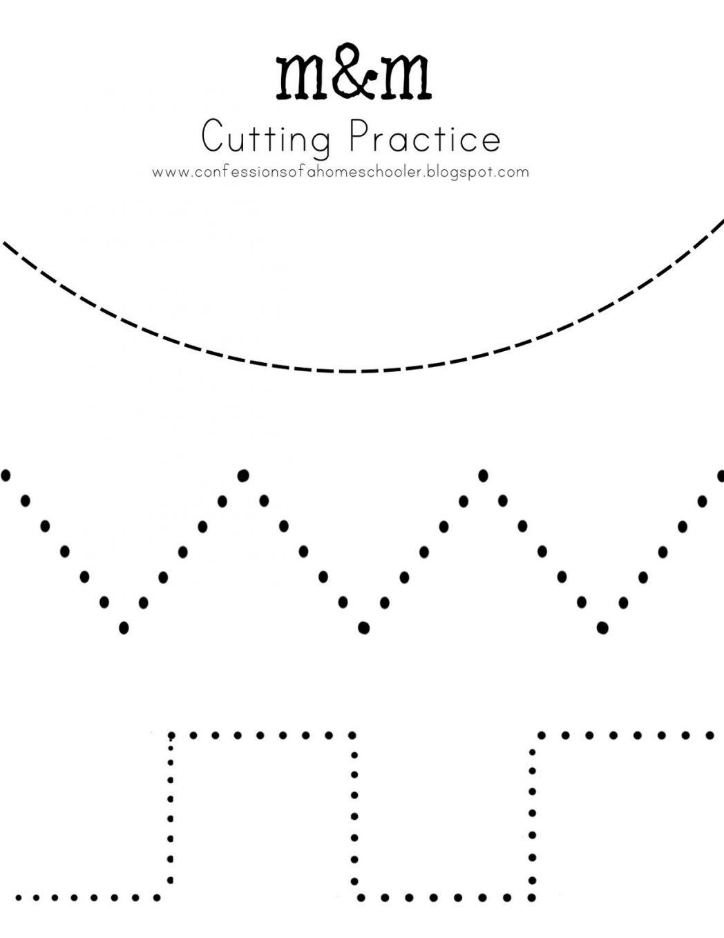 Kindergarten Cut Out Worksheets