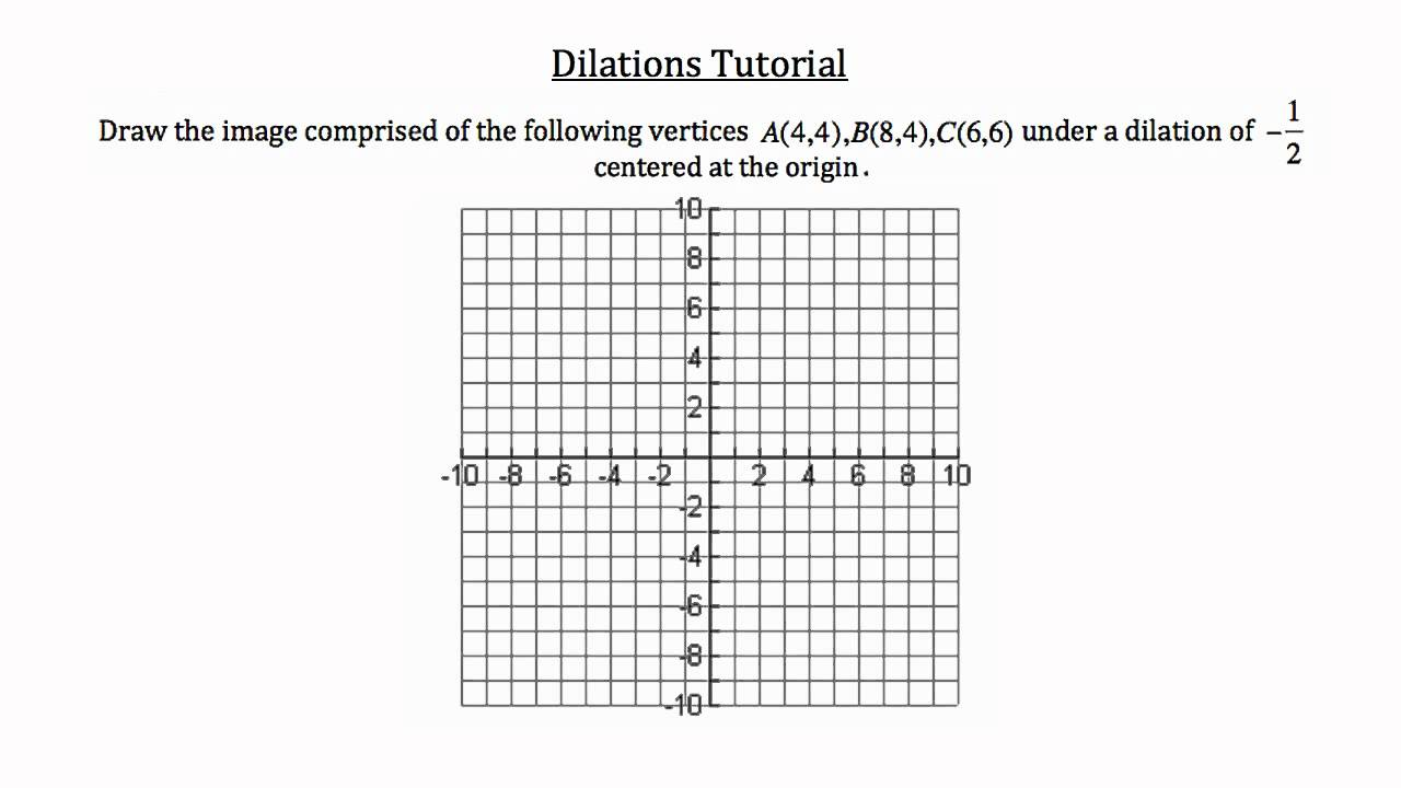 Dilation Worksheets Kuta