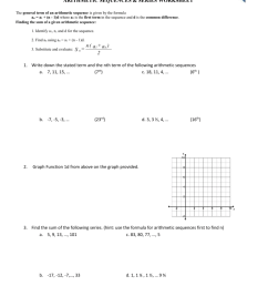 31 Arithmetic Sequences And Series Worksheet Answers - Worksheet Resource  Plans [ 1024 x 791 Pixel ]