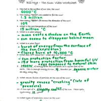 Bill Nye Inventions Worksheets