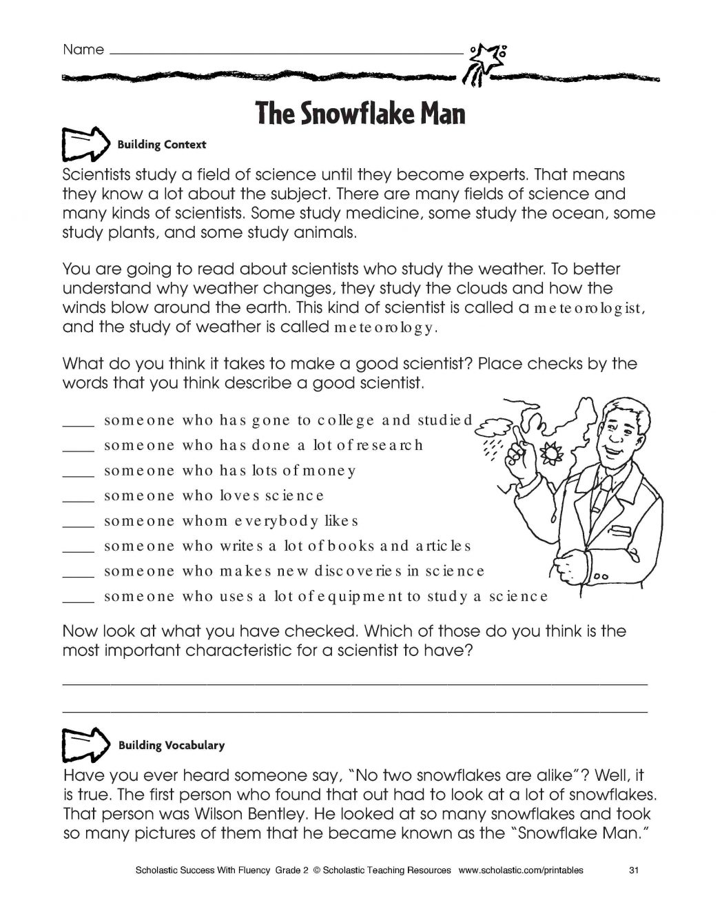 Free Worksheets For 4th Grade Reading Comprehension