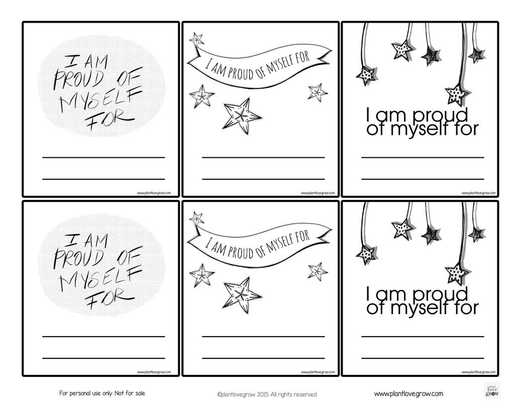 Self Esteem Coloring Worksheet