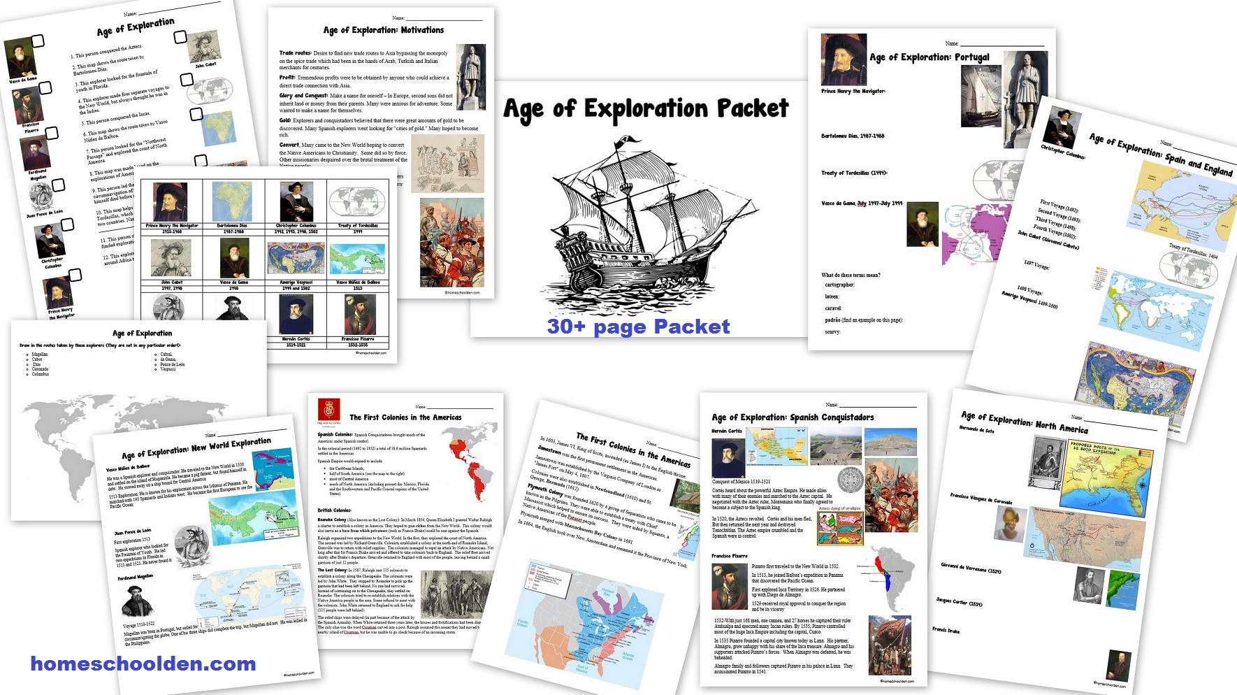 The Age Of Exploration Worksheets