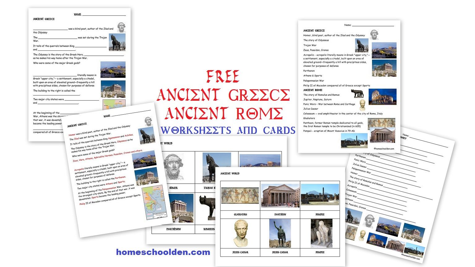 Ancient Greece And Rome Worksheets