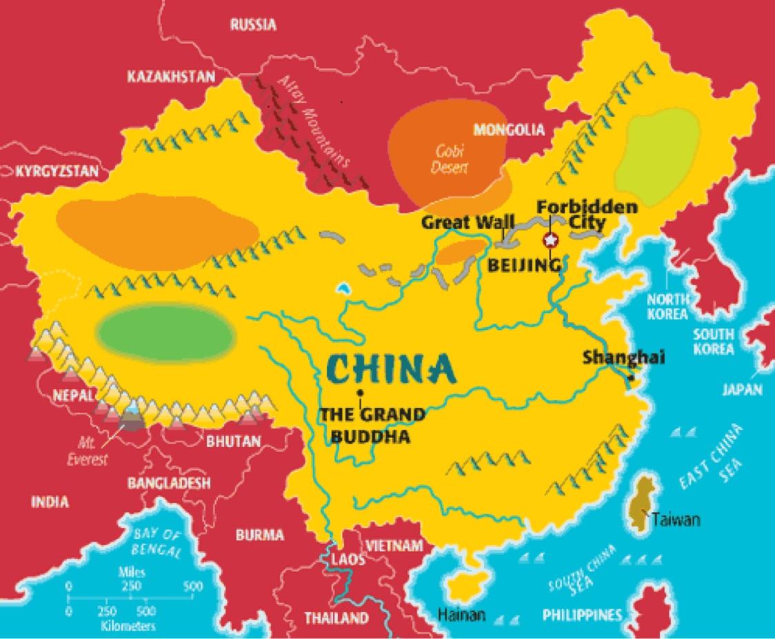 Map Of Ancient China Worksheets