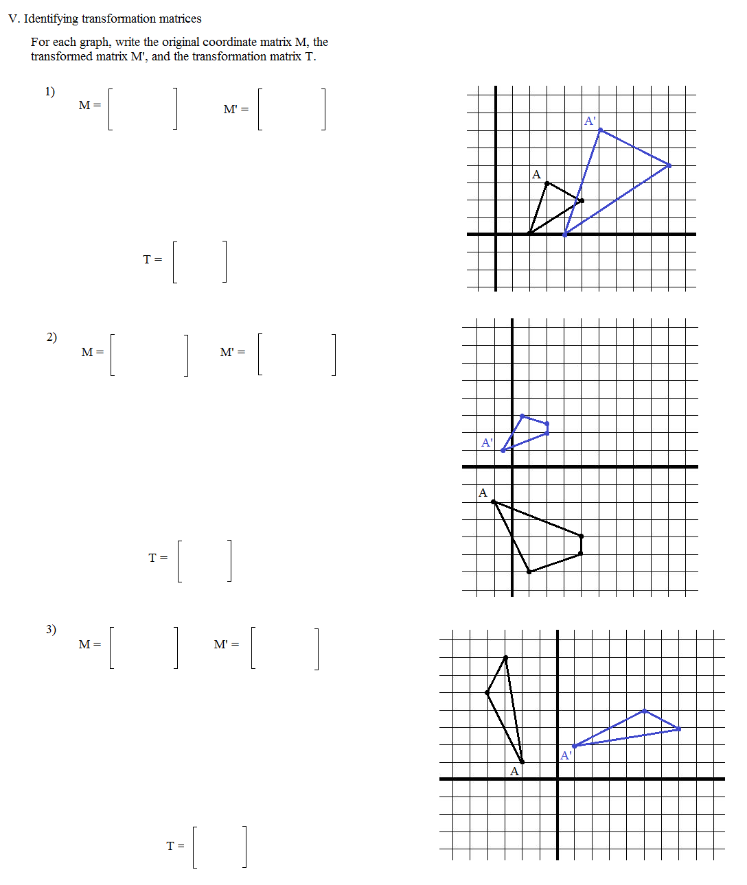 Dilation Geometry Worksheets