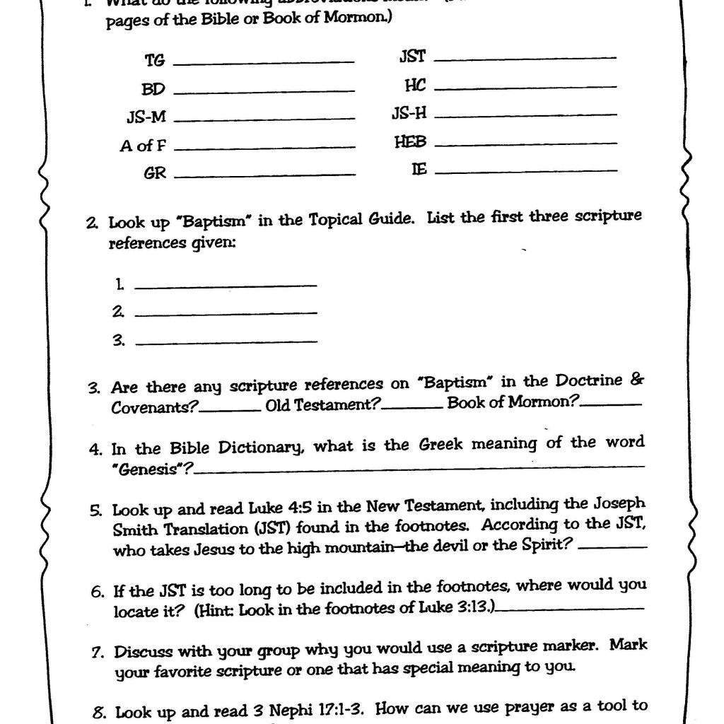 Internet Safety Worksheets