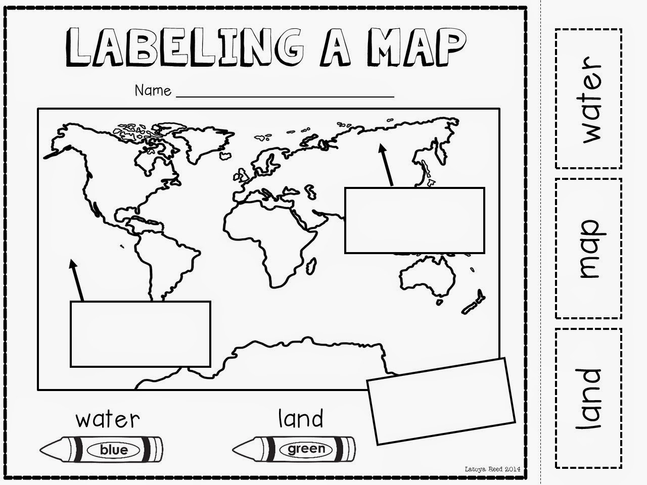 Map And Globe Worksheets For Kindergarten
