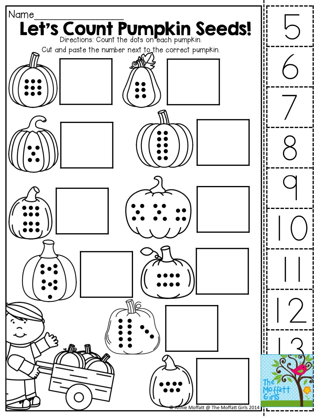 Counting Cut And Paste Worksheets