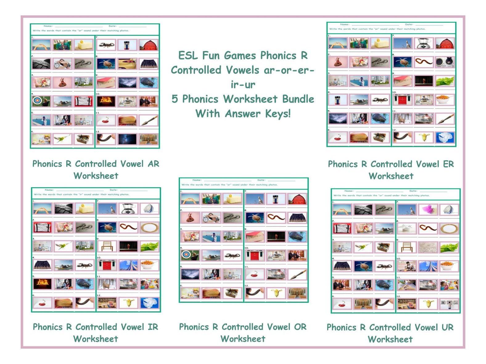 Phonics R Controlled Vowels Ar Worksheets Samples