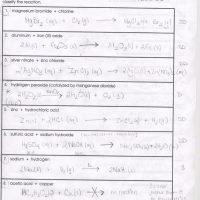 Predicting Chemical Reactions Worksheets