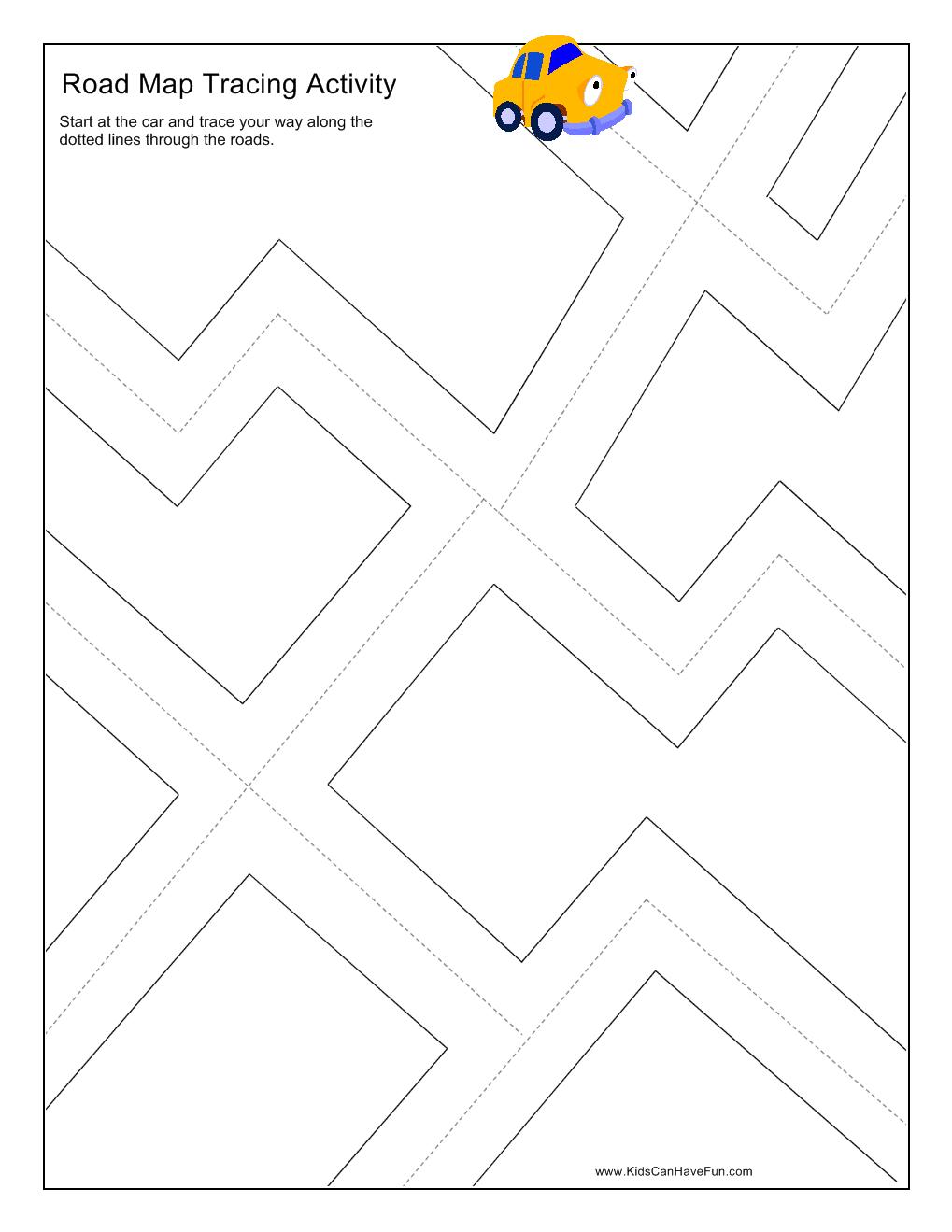 Road Map Worksheets
