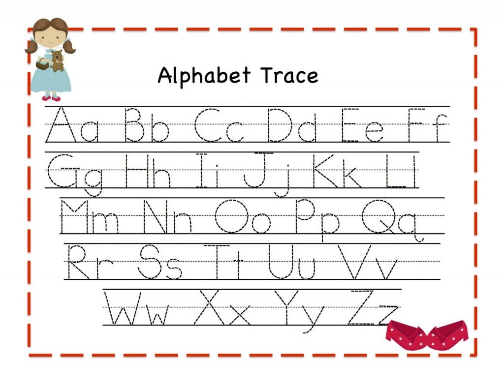 Printable Trace Alphabet Worksheets Free