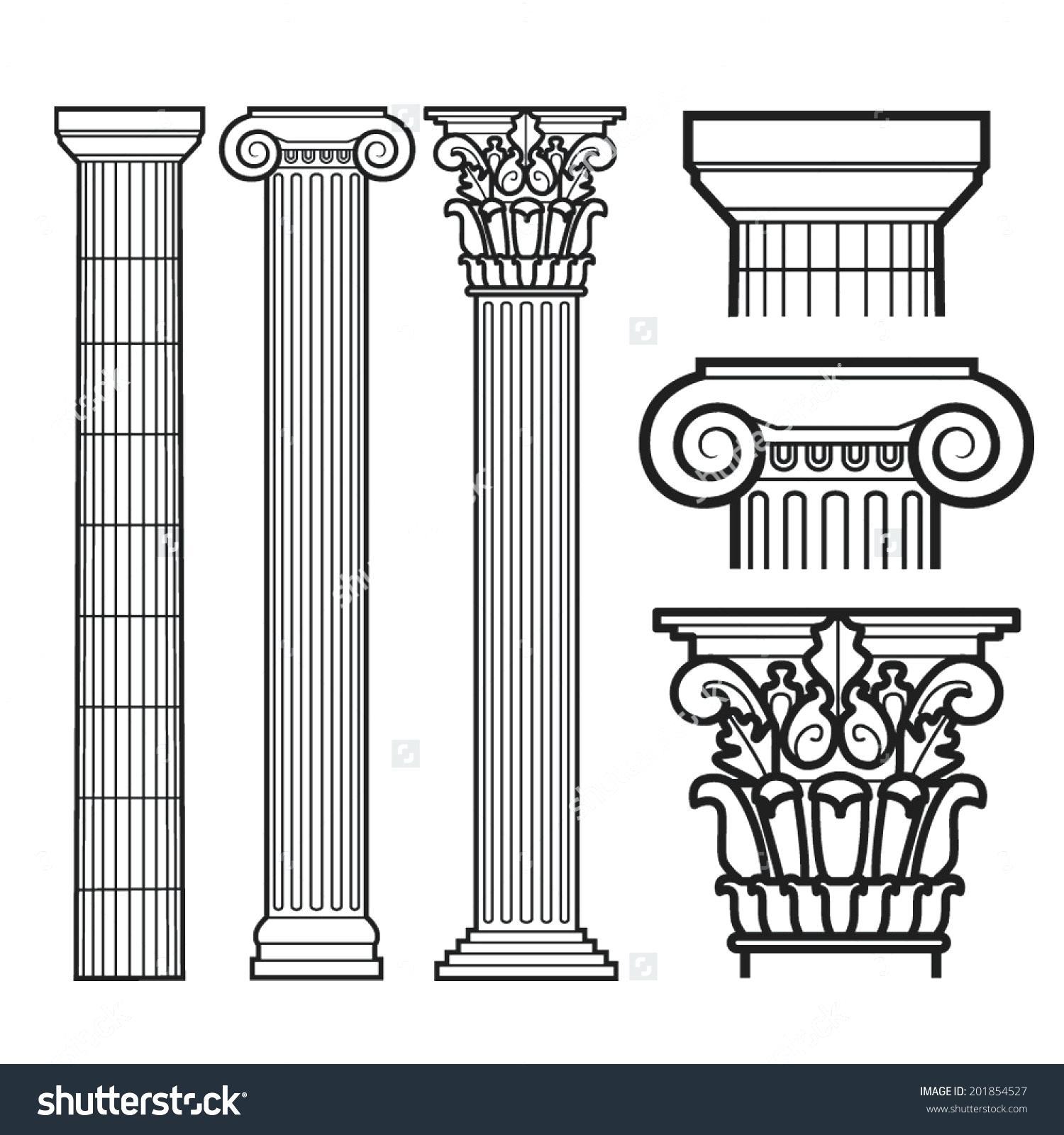 Greek Columns Worksheets
