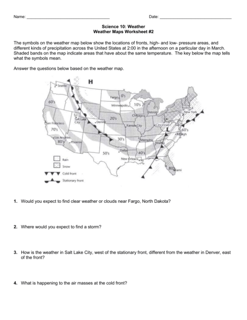 small resolution of 33 How To Read A Weather Map Worksheet - Worksheet Resource Plans