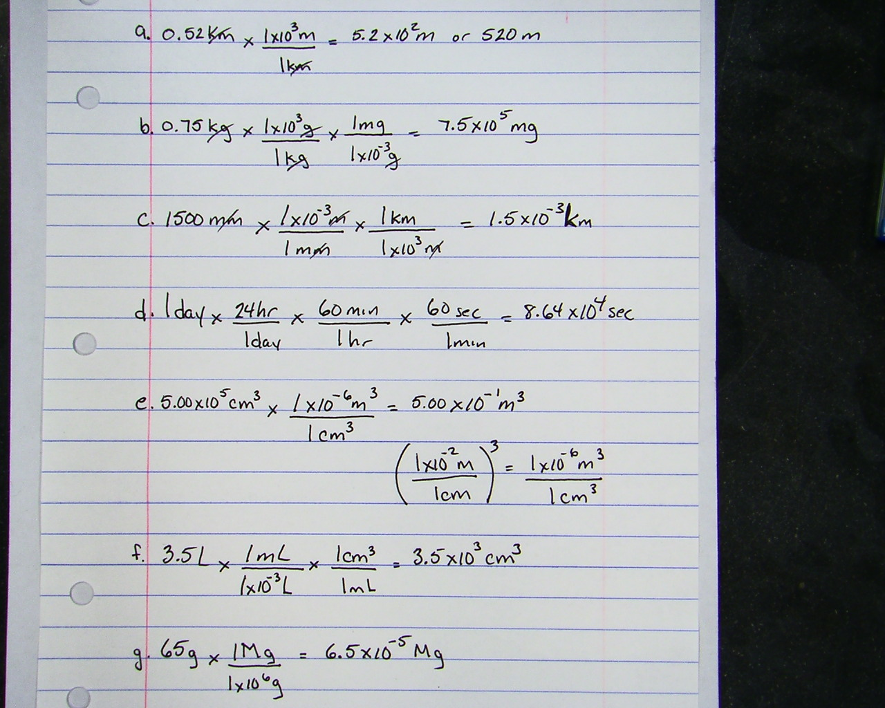 Chemistry Conversion Practice Worksheets