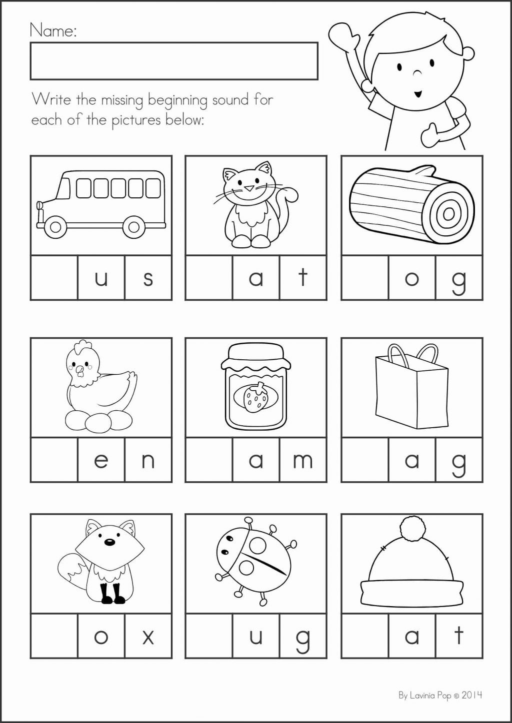 Beginning And Ending Sounds Worksheets Forergarten Answers