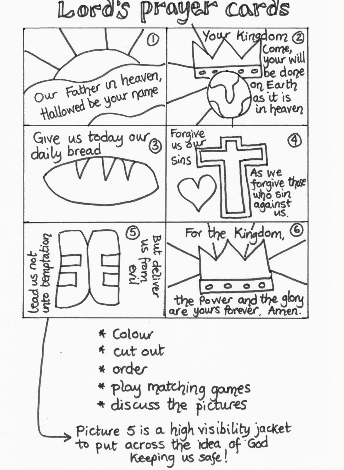 Our Father Prayer Worksheets