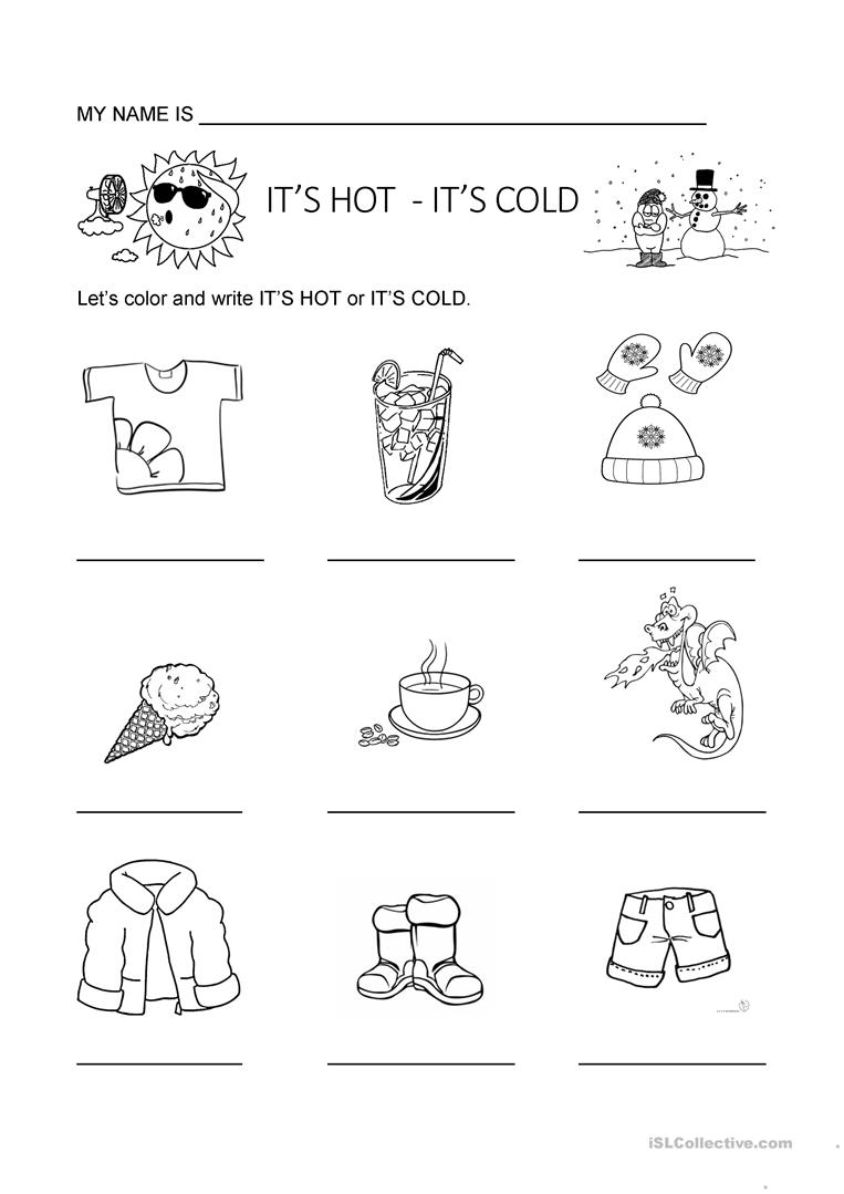 Hot Or Cold Worksheets Printable