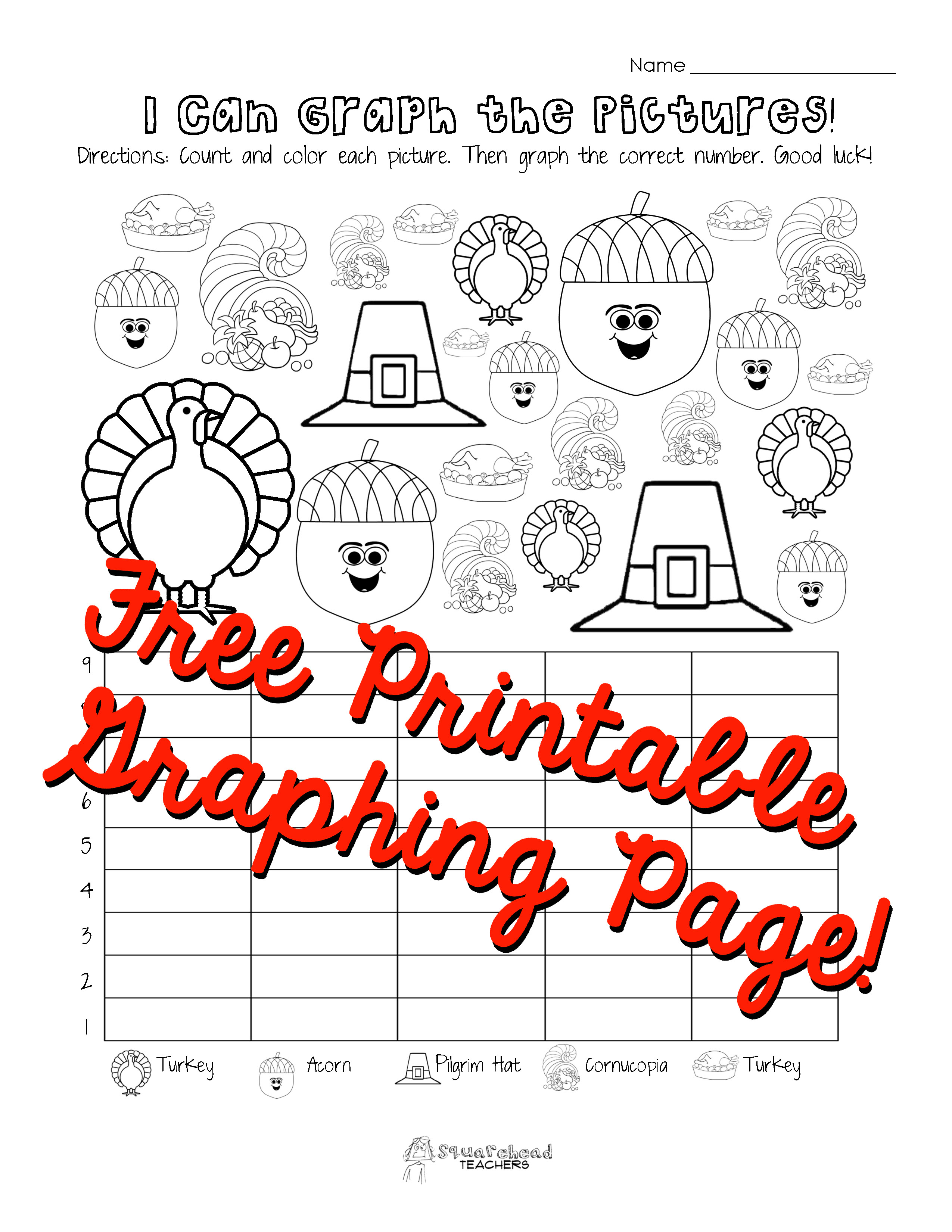 Thanksgiving Graphing Worksheets