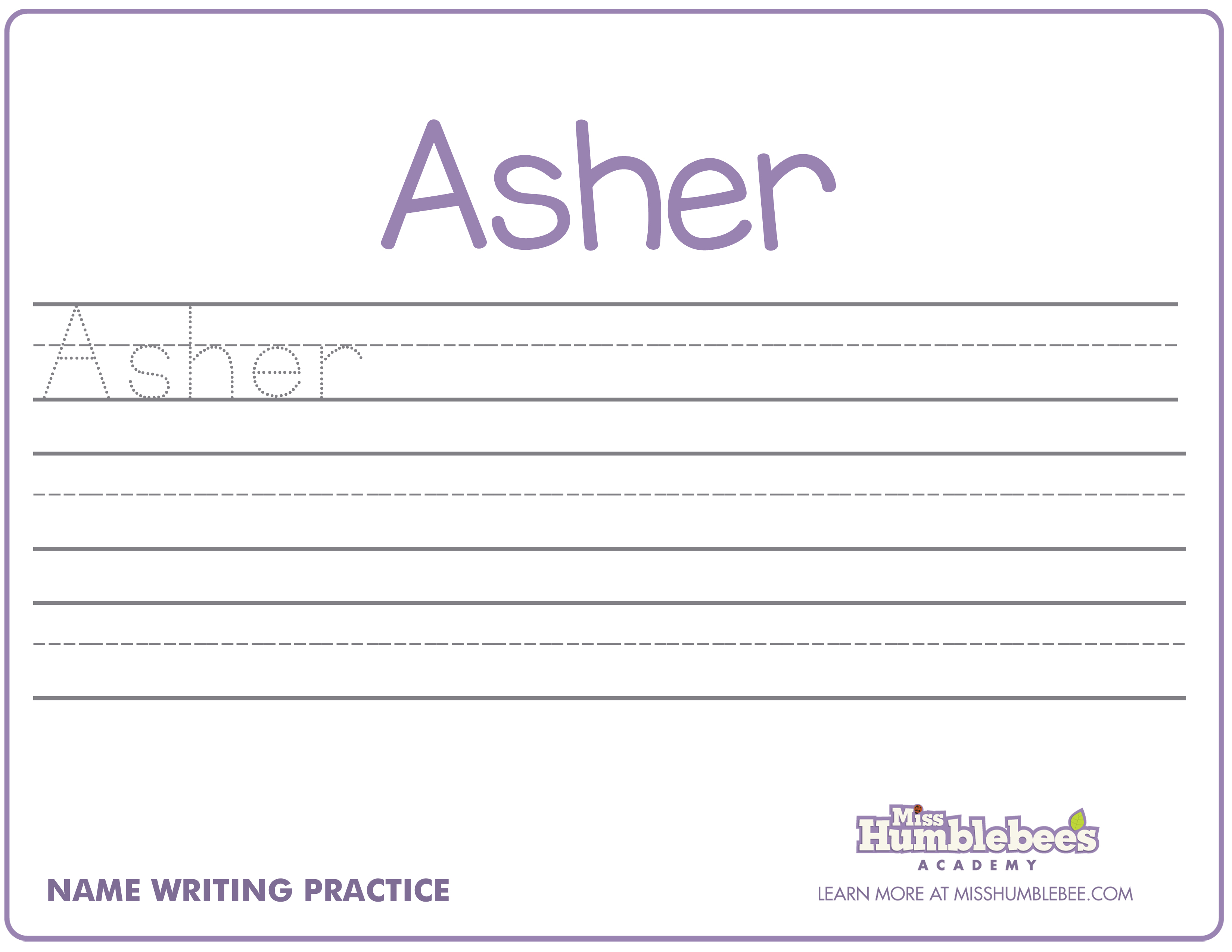 Practice Name Writing Worksheets