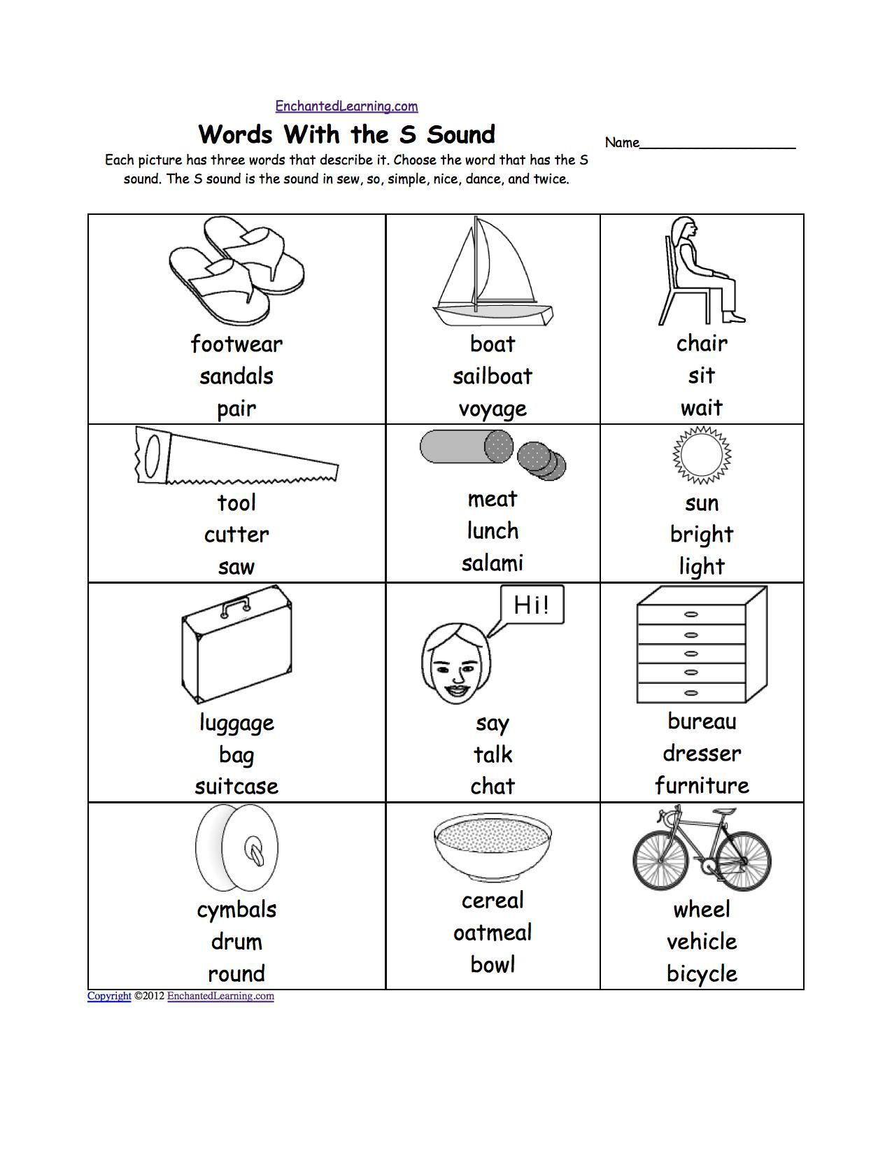 Sh Words Worksheets For Kindergarten