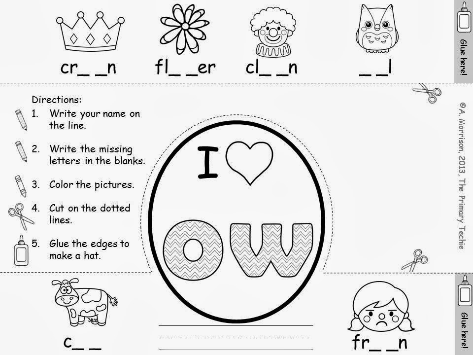Ow Phonics Worksheets
