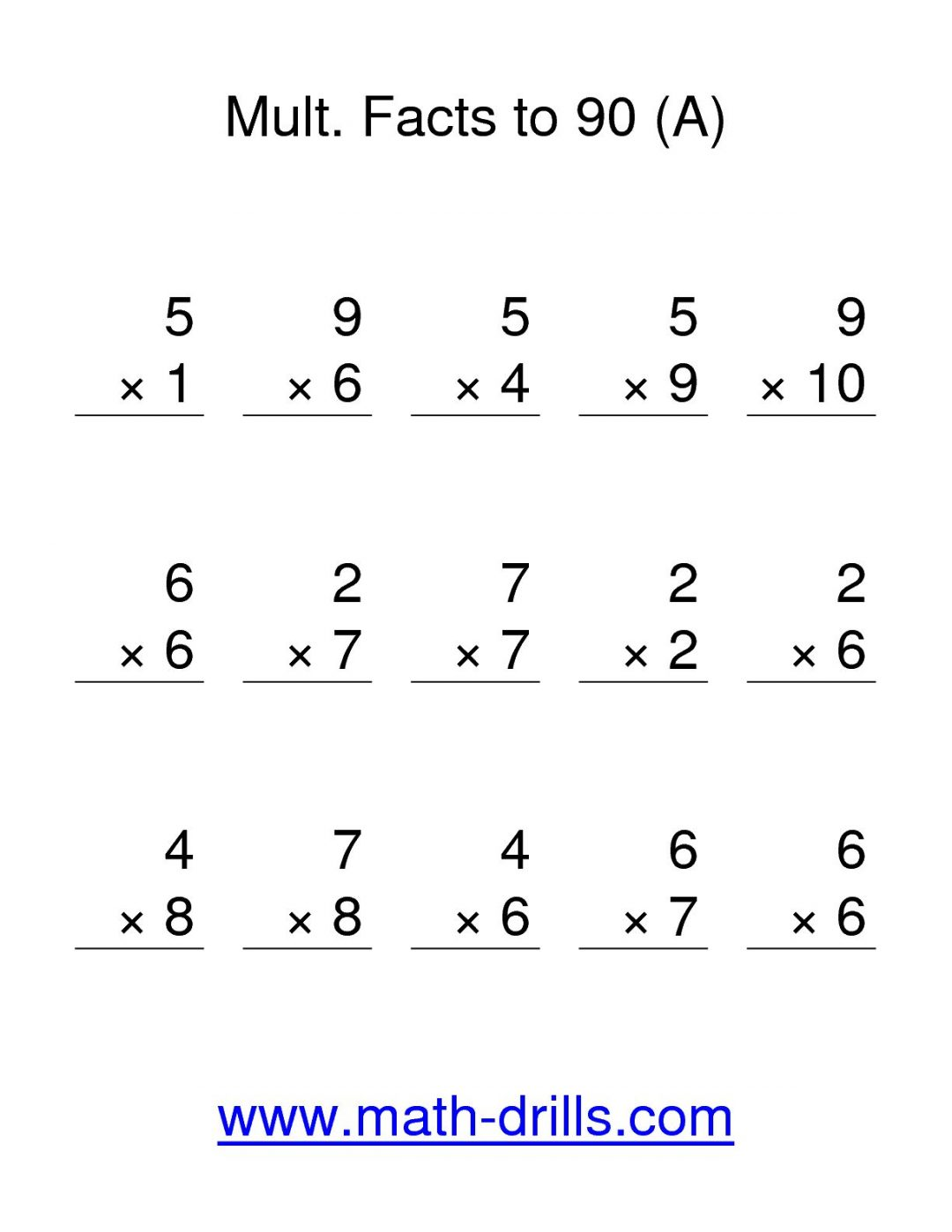 Touch Point Subtraction Worksheets
