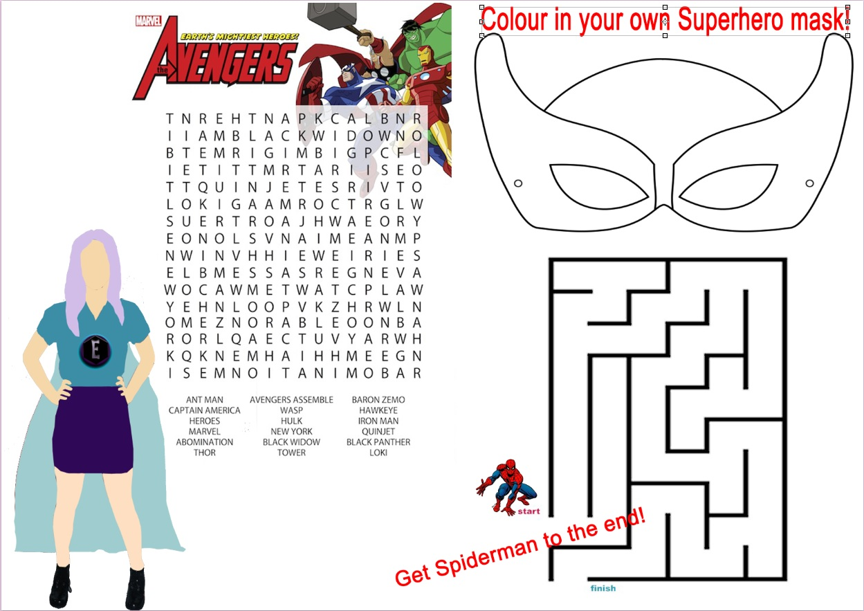 Super Hero Worksheets