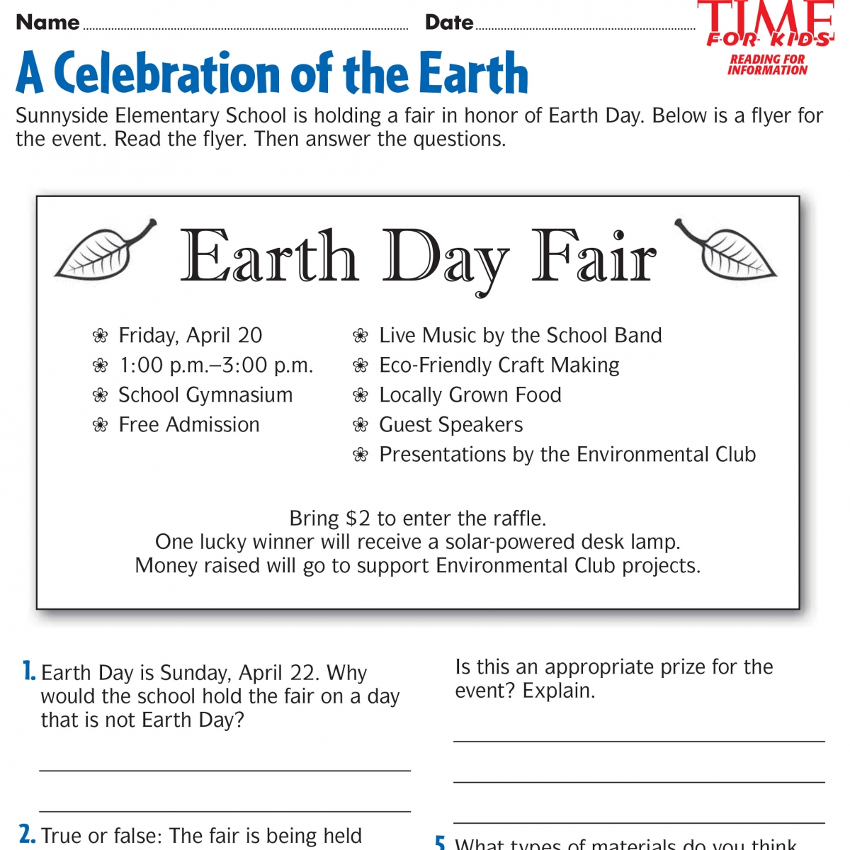 Worksheets About Earth Day Worksheets For All Worksheets