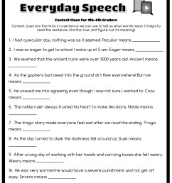 Word Mystery Context Clues Worksheet   Printable Worksheets and Activities  for Teachers [ 3300 x 2550 Pixel ]