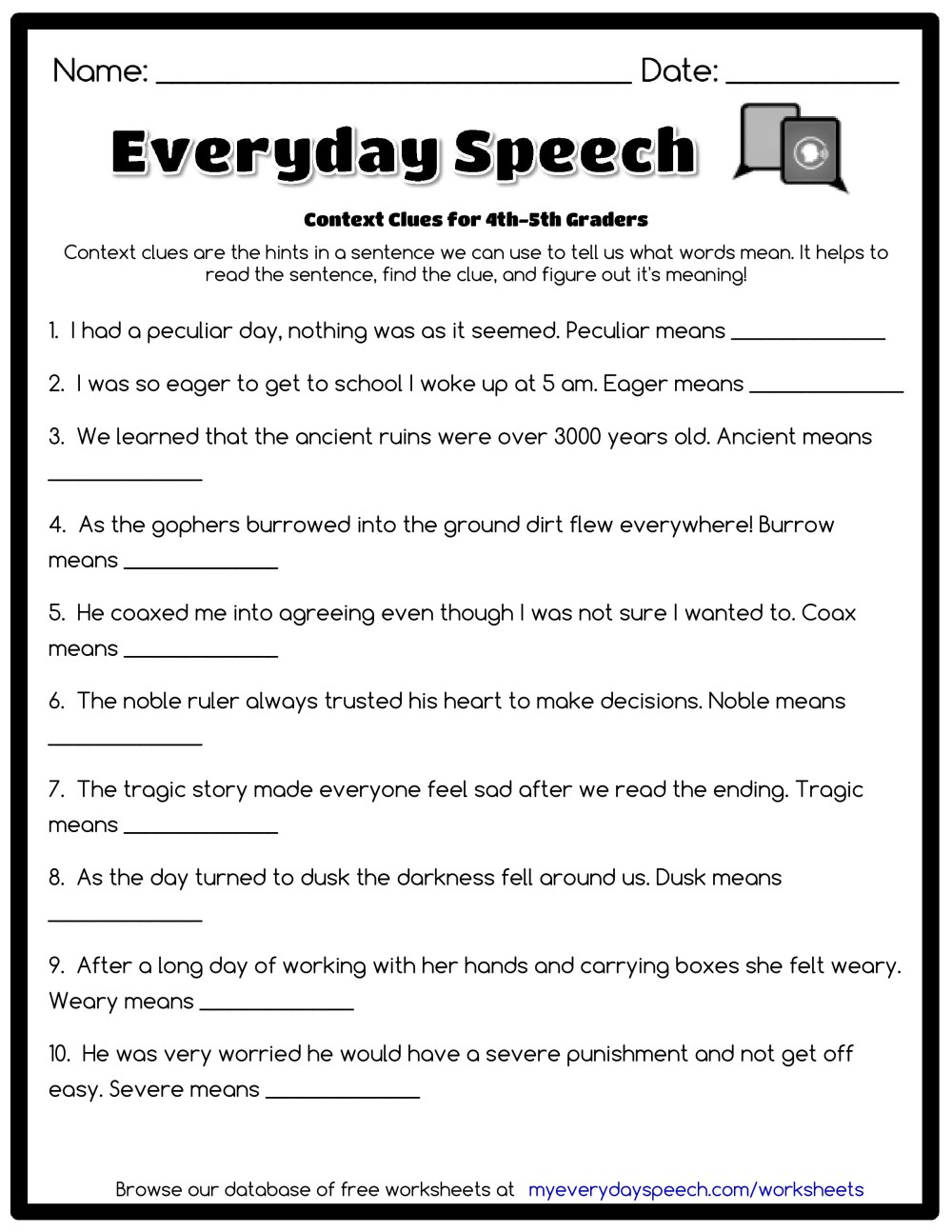 medium resolution of Word Mystery Context Clues Worksheet   Printable Worksheets and Activities  for Teachers