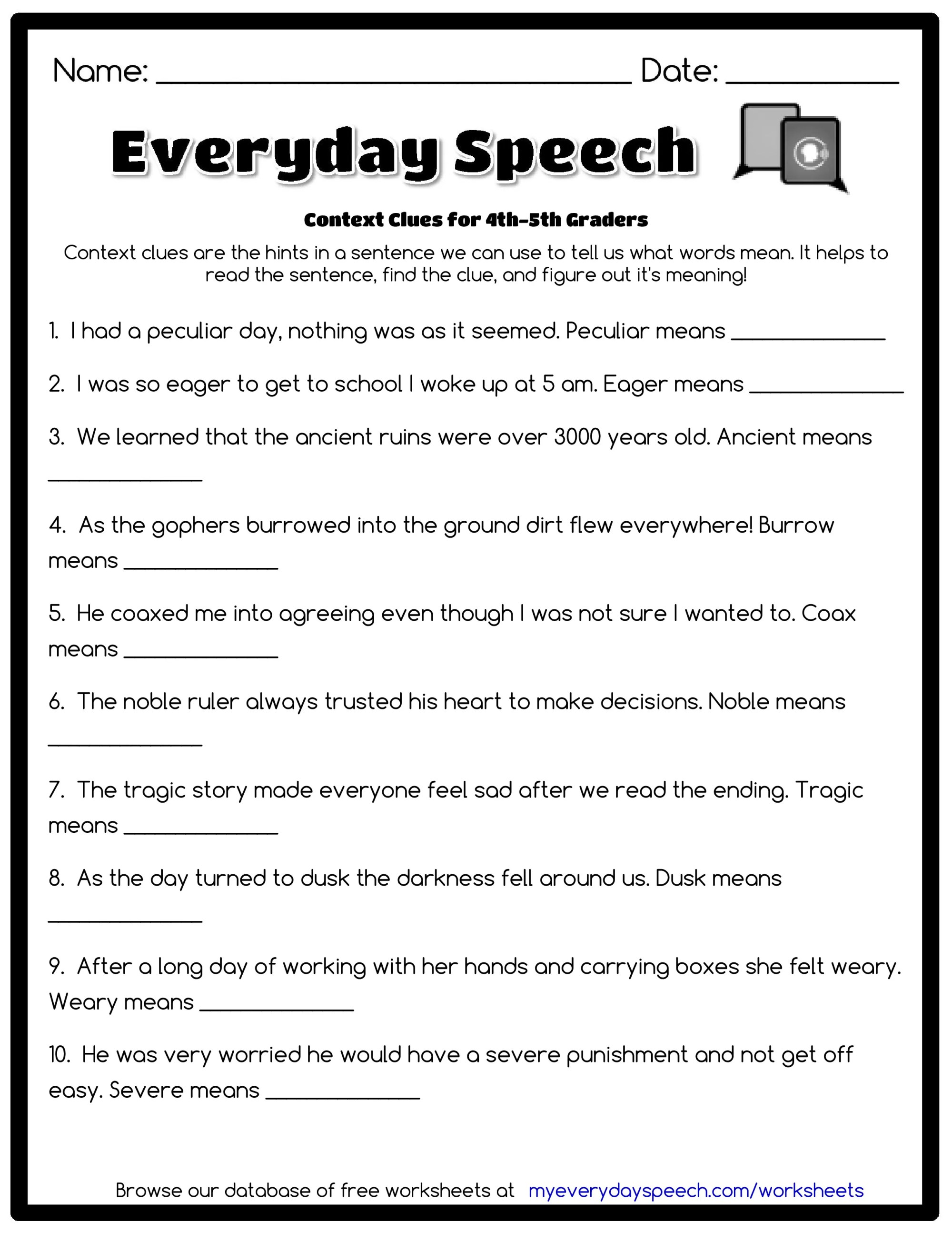 hight resolution of Word Mystery Context Clues Worksheet   Printable Worksheets and Activities  for Teachers