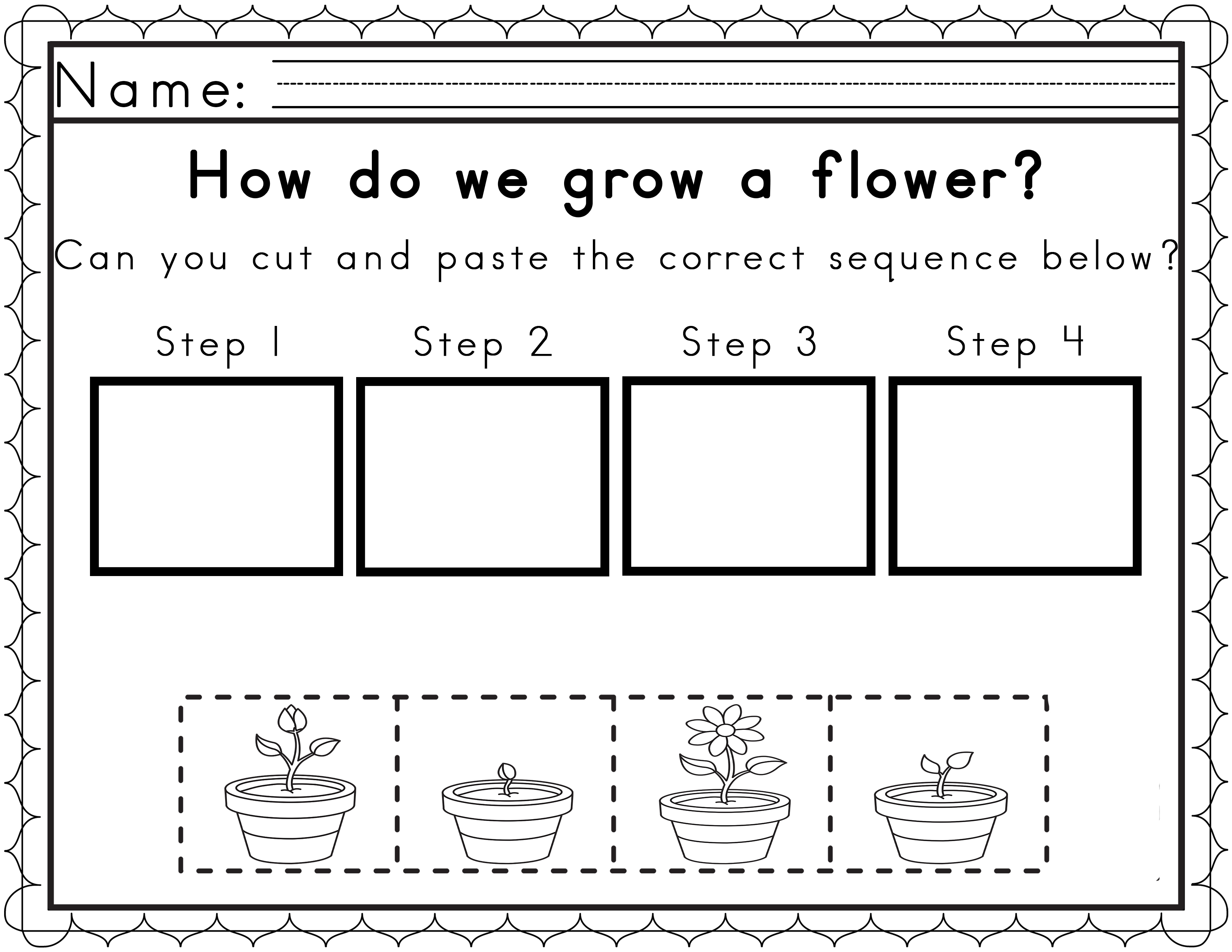 Cut And Paste Story Sequencing Worksheets Free Printable
