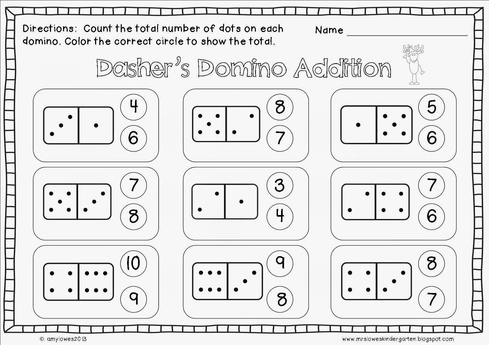 Domino Math Worksheet Worksheets For All Worksheets Samples