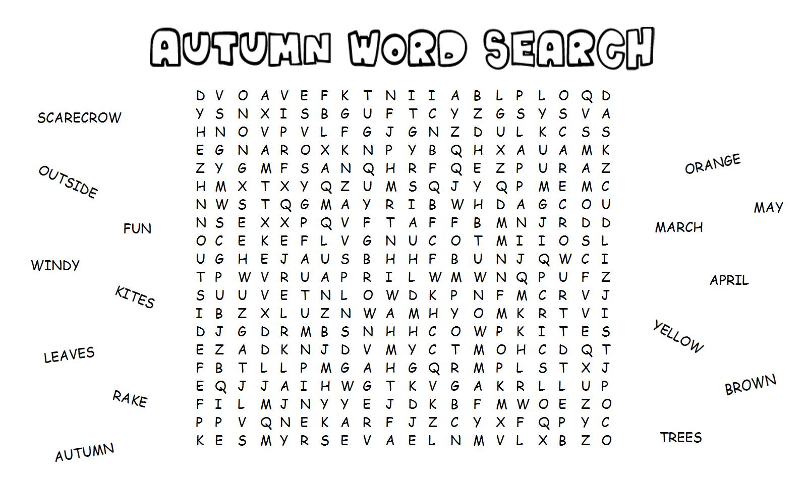 Autumn Worksheets Printable