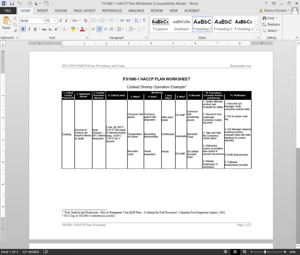 Hazardysis Worksheets Examples