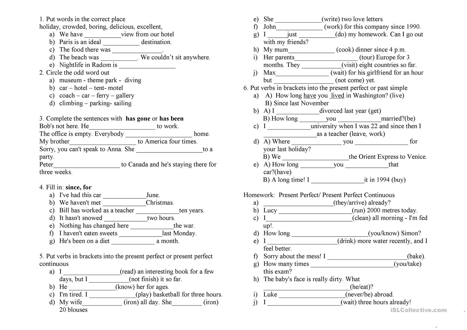 Reference Words Worksheet Exercise