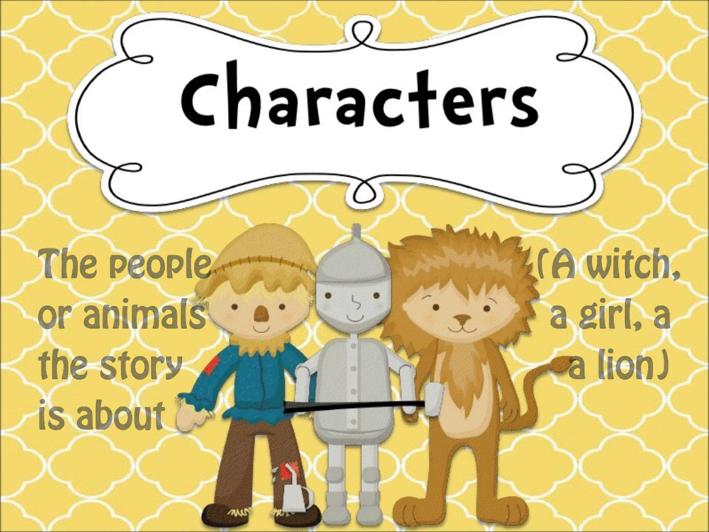 Identify Characters In A Story Worksheets