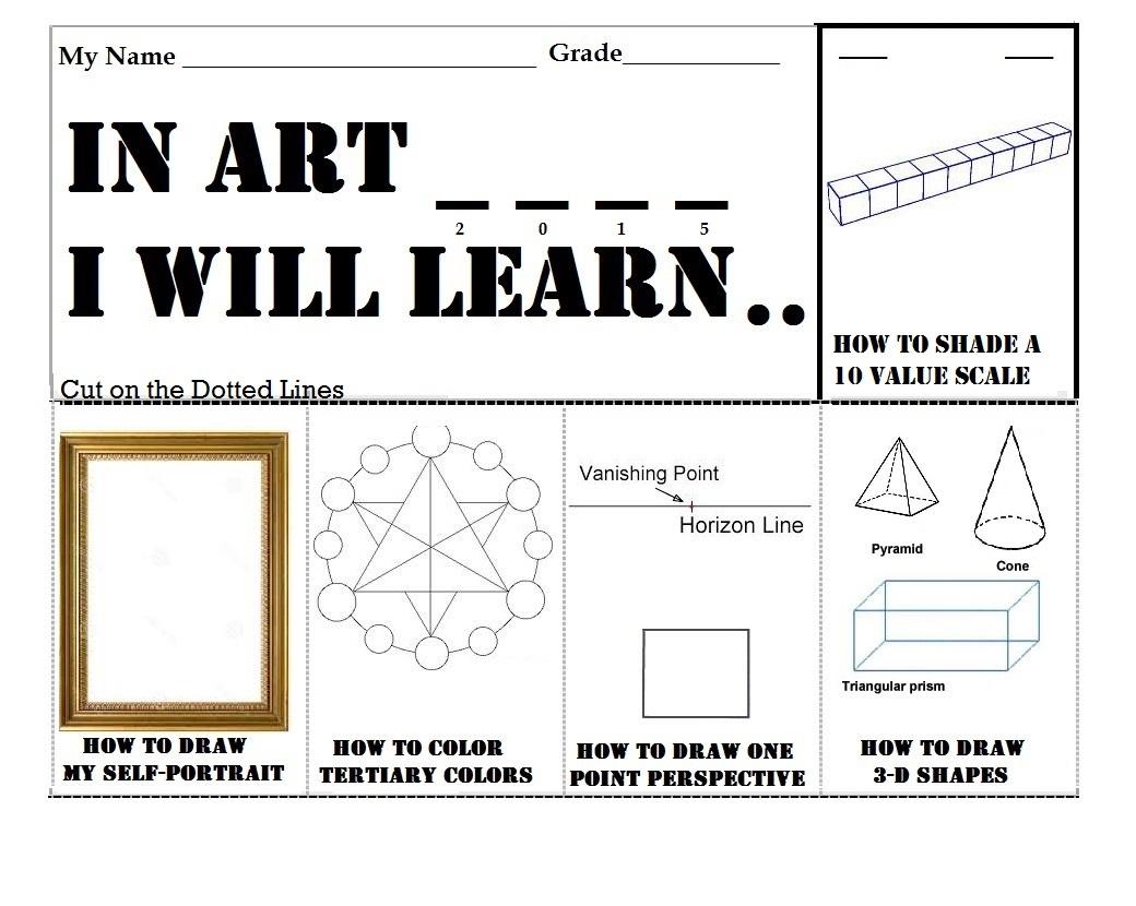 Visual Art Worksheets
