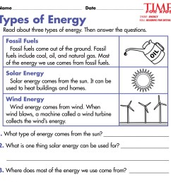Forms Of Energy Worksheet For 2nd Grade   Printable Worksheets and  Activities for Teachers [ 1199 x 1200 Pixel ]