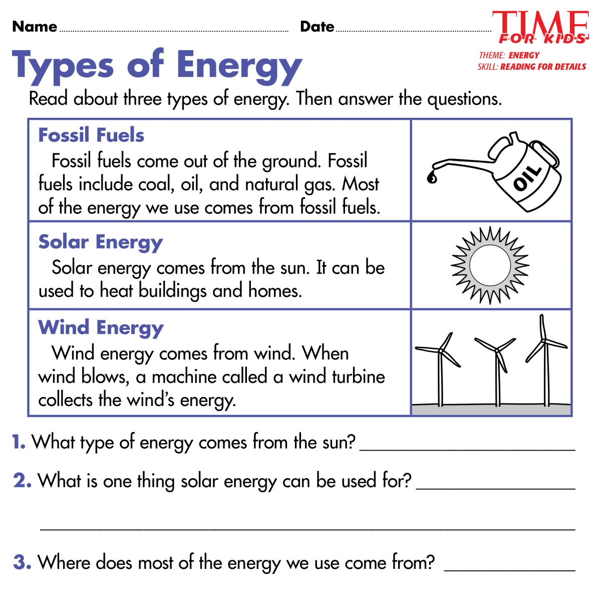 hight resolution of Forms Of Energy Worksheet For 2nd Grade   Printable Worksheets and  Activities for Teachers