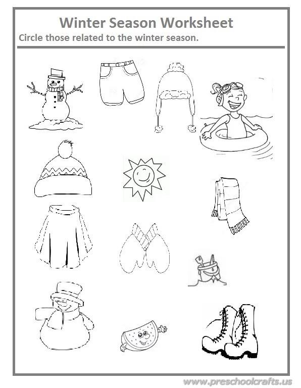 Season Worksheets For Kids
