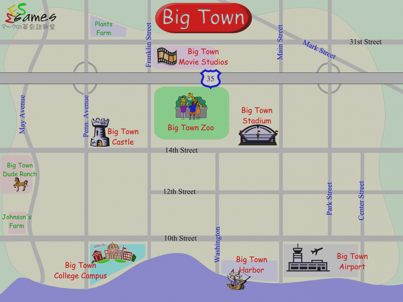 Blank City Map Worksheets