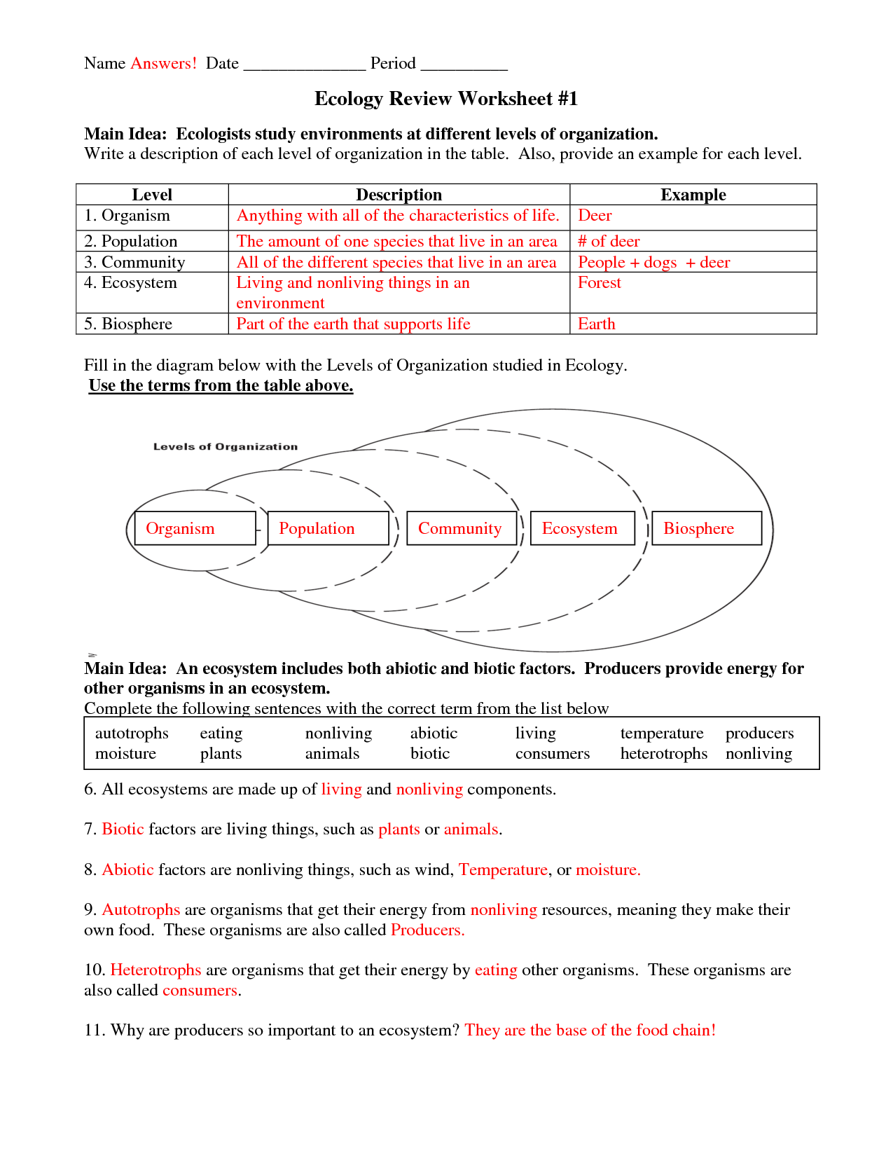 Excel 10th Grade Science Worksheets 10th Grade Earth