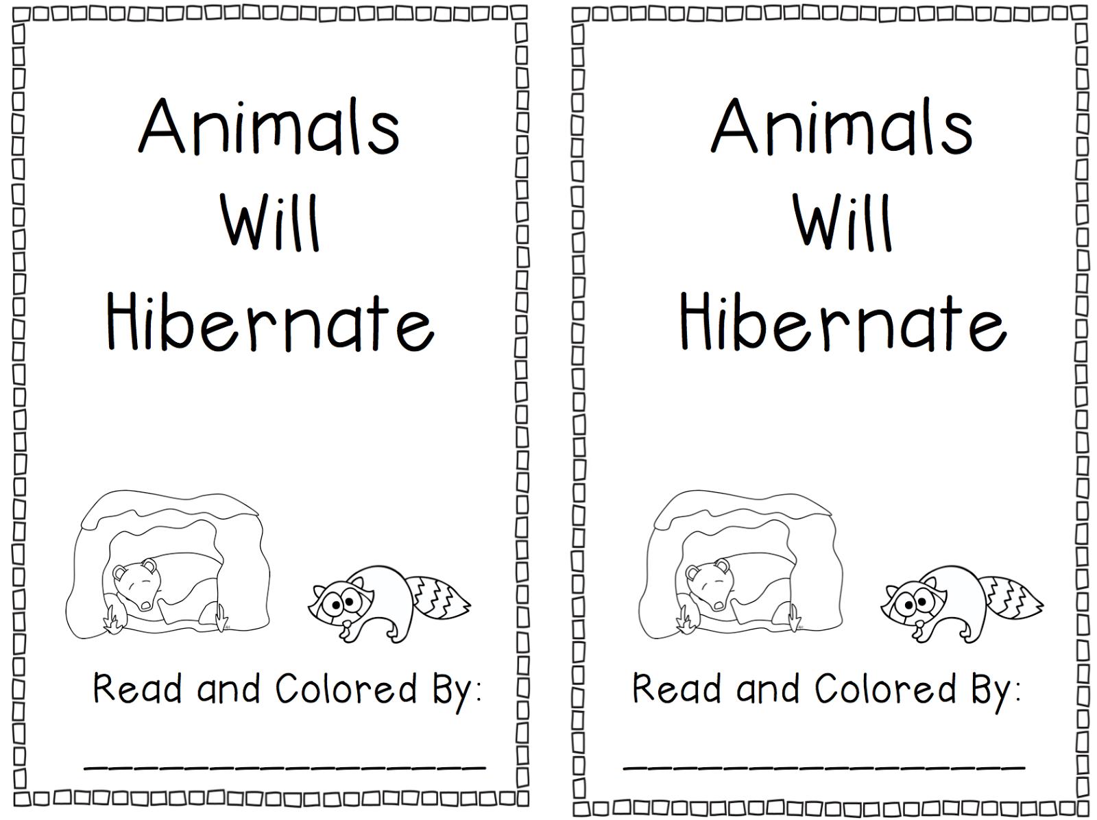 Hibernation Worksheets For Kindergarten